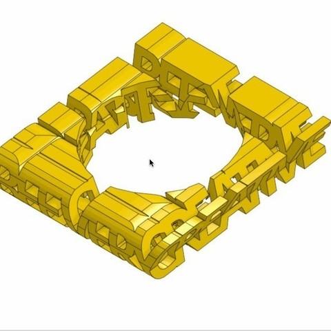 beeverycreative_display_large.jpg Download free STL file BeeVeryCreative Logo Thingy • 3D printer model, Palemar