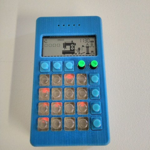 Download free 3D printing designs Teenage Engineering PO-12 Case with Keys, Palemar