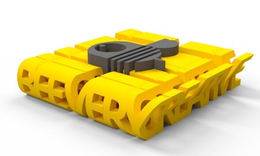 4e832d0e60836f258661f00a277ec534_display_large.jpg Download free STL file BeeVeryCreative Logo Thingy • 3D printer model, Palemar