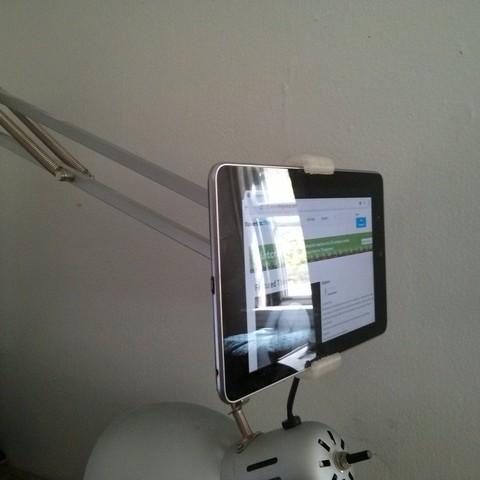 Download free 3D print files Nexus 7 Mount for IKEA TERTIAL Work Lamp, Palemar