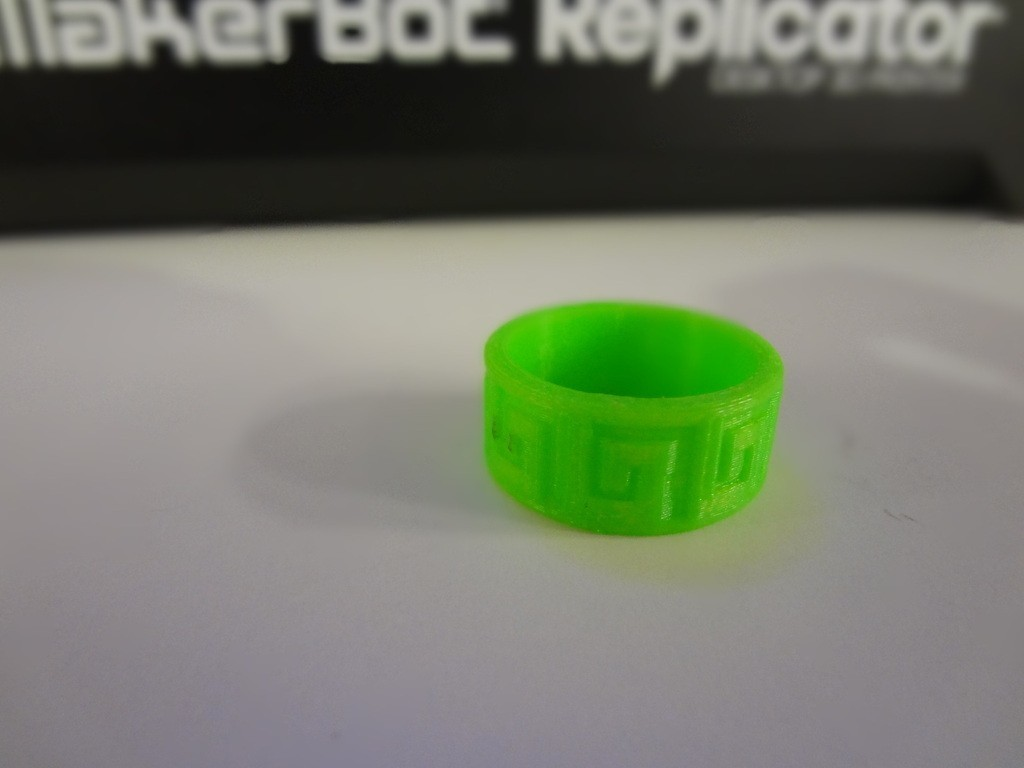 AnilloAztecaPattern1_2_display_large.JPG Download free STL file Aztec Ring • 3D print object, Cilshell