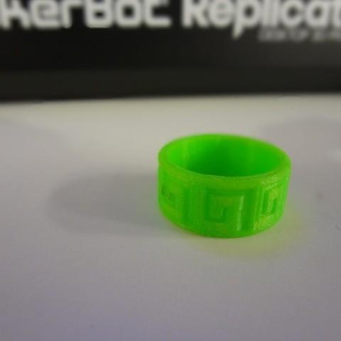 Free 3D printer designs Aztec Ring, Cilshell
