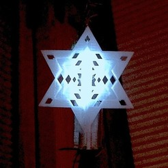 Free 3D print files Tree Topper - illuminated Star of David, Cilshell