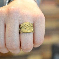 Free 3D printer files Aztec Heart & Soul Ring, Cilshell