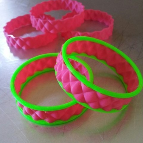 Download free 3D printer designs BumpBangleDual, Cilshell