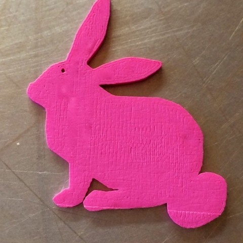 Ebunny1_display_large.jpg Download free STL file Easter Bunny Charms • 3D printer design, Cilshell