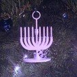 Download free 3D printer model Menorah Holiday Tree Ornament, Cilshell