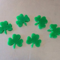 Free 3D print files Shamrocks-lucky charms, Cilshell