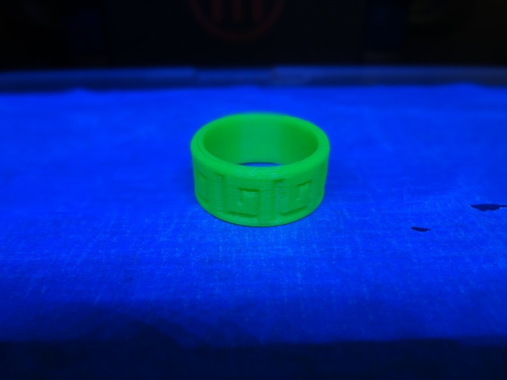 AnilloAztecaPattern1_display_large.JPG Download free STL file Aztec Ring • 3D print object, Cilshell