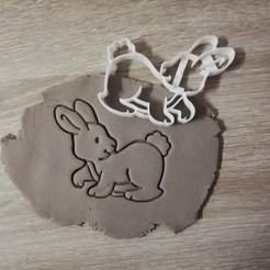 STL Cortador de galletas del Conejo de Pascua, markov3dsvet