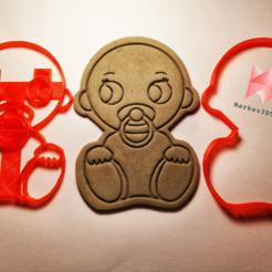 Télécharger fichier imprimante 3D Mignon coupe-biscuits pour bébé, markov3dsvet
