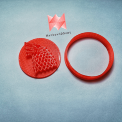 Download 3D printing designs Game Of Thrones Cookie Cutter (+ cutter for making necklaces), markov3dsvet