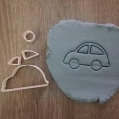 Modelos 3D Cortador de galletas para autos (4 partes), markov3dsvet