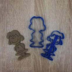 Download 3D printer model The Peanuts - Lucy Van Pelt Cookie Cutter , markov3dsvet