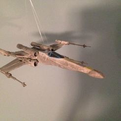 Download free 3D printing models Printable (pretty much all the way now) repaired x-wing, Fastidious_Rex
