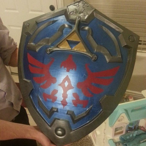 Download free STL scale shield for a legendary hero with a Link to a princess named Zelda, Fastidious_Rex