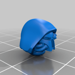 Hooded_HelmetedHead_01.png Download free STL file Hooded Heads Repaired and Split • 3D printer template, Tloper
