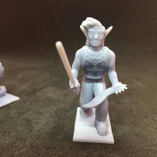 Download free 3D print files Eladrin Elf Rogue, Pza4Rza