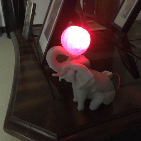 4108e6f09c9ecd36262650810121b98e_display_large.jpg Download free OBJ file Elephant with Circus Ball Lamp • Object to 3D print, Pza4Rza