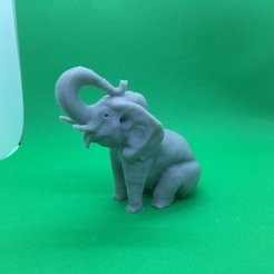 Download free STL files An Elephant in a Sitting Position, Pza4Rza