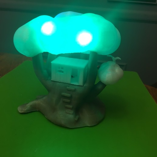 IMG_5057.JPG Download free STL file Improved, but still pretty simple,Tree House Night Light • Design to 3D print, Pza4Rza