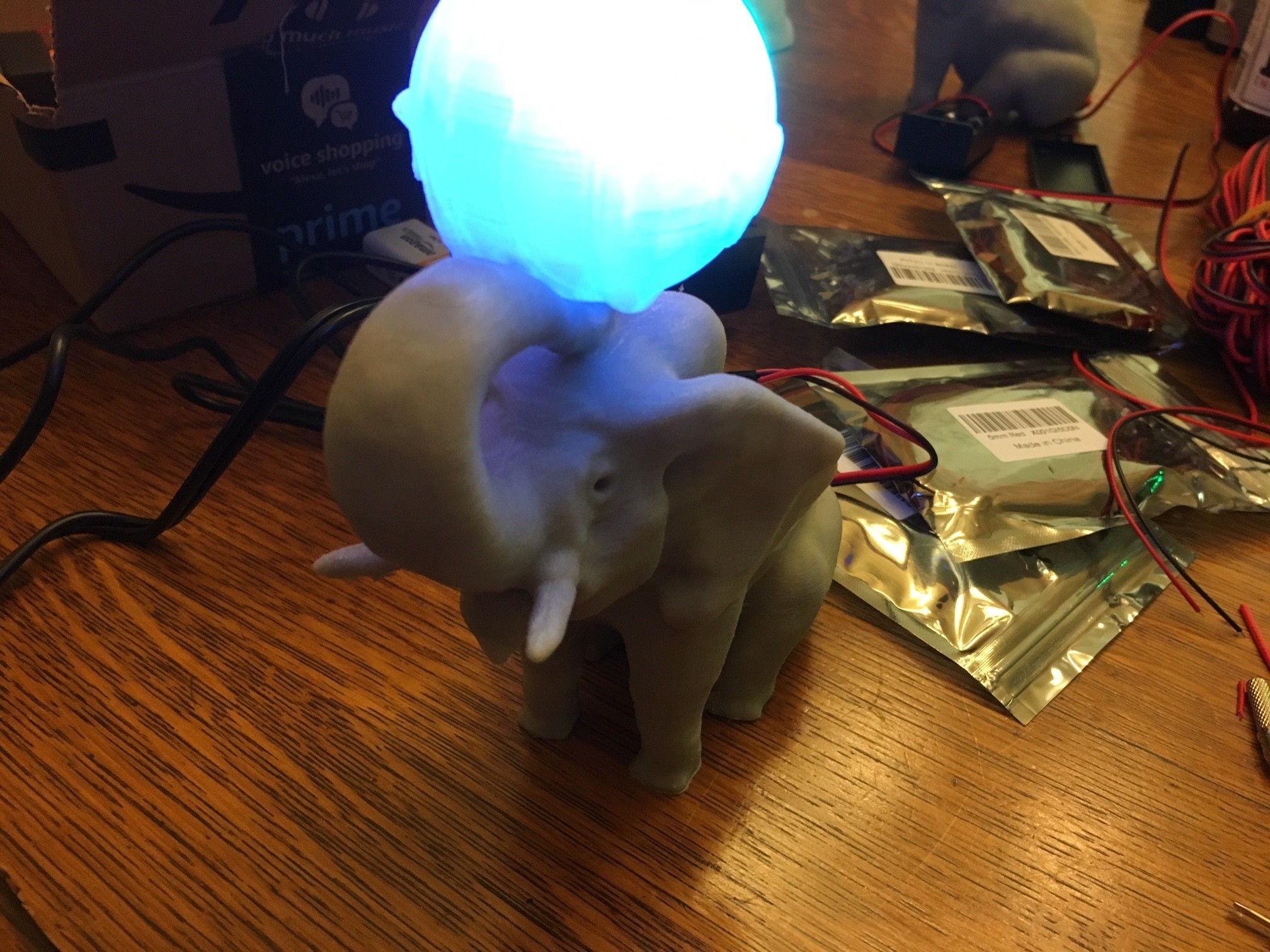 IMG_4201.JPG Download free OBJ file Elephant with Circus Ball Lamp • Object to 3D print, Pza4Rza