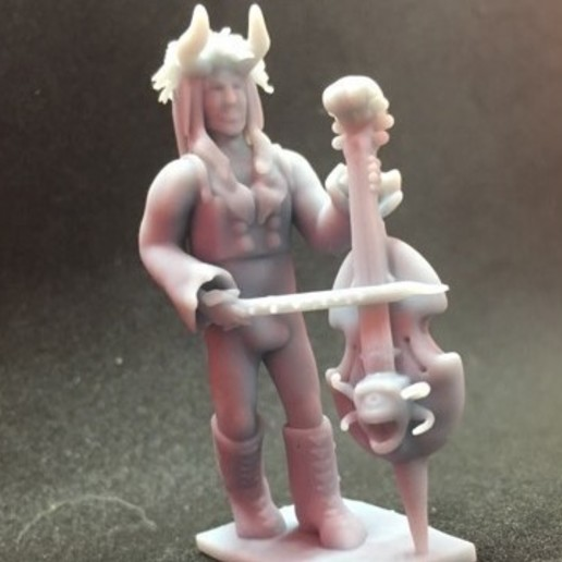 Download free 3D printer designs Tiefling Bard, Pza4Rza