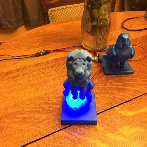 24444c62e33e6fd53e4bf7ec098c4bb6_display_large.JPG Download free OBJ file Lion On Ball Nighlight/Lamp • 3D printable template, Pza4Rza