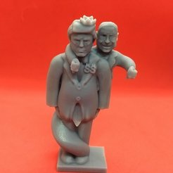 Free 3D printer model Trump Chess-Alternate Trump King-Trump with the Ghost of John McCain, Pza4Rza