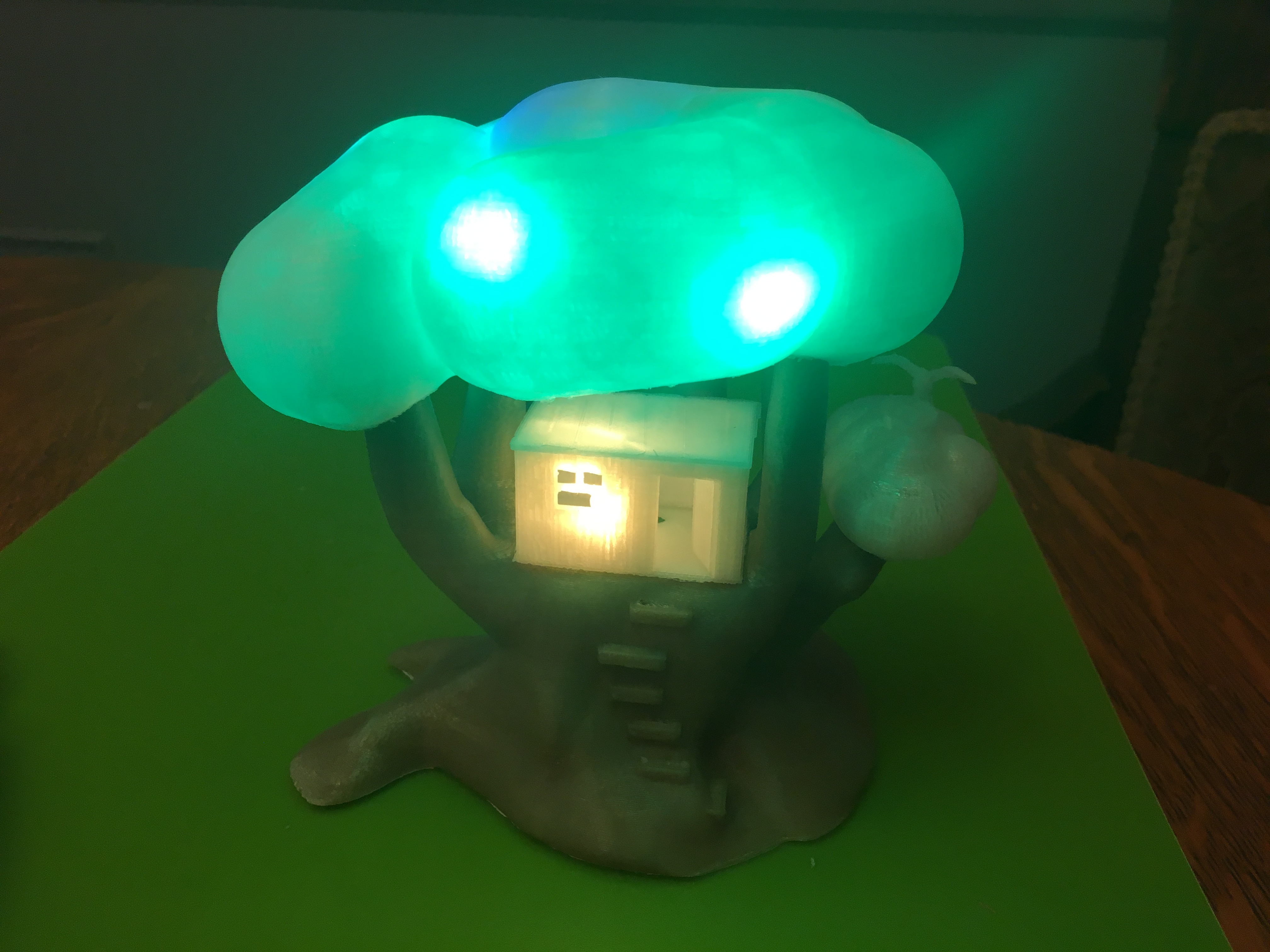 IMG_5066.JPG Download free STL file Improved, but still pretty simple,Tree House Night Light • Design to 3D print, Pza4Rza