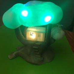 Download free 3D printer templates Improved, but still pretty simple,Tree House Night Light, Pza4Rza