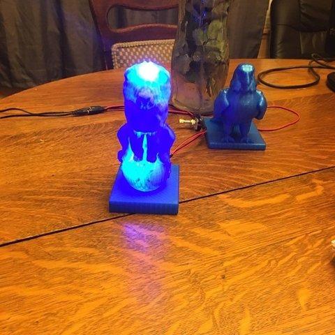f17b7d99eb706ee83739613b286930da_display_large.JPG Download free OBJ file Lion On Ball Nighlight/Lamp • 3D printable template, Pza4Rza