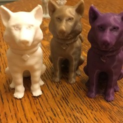 Free 3D printer model Husky in sitting position, Pza4Rza
