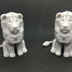 Free 3D printer files Sitting Lion, Pza4Rza