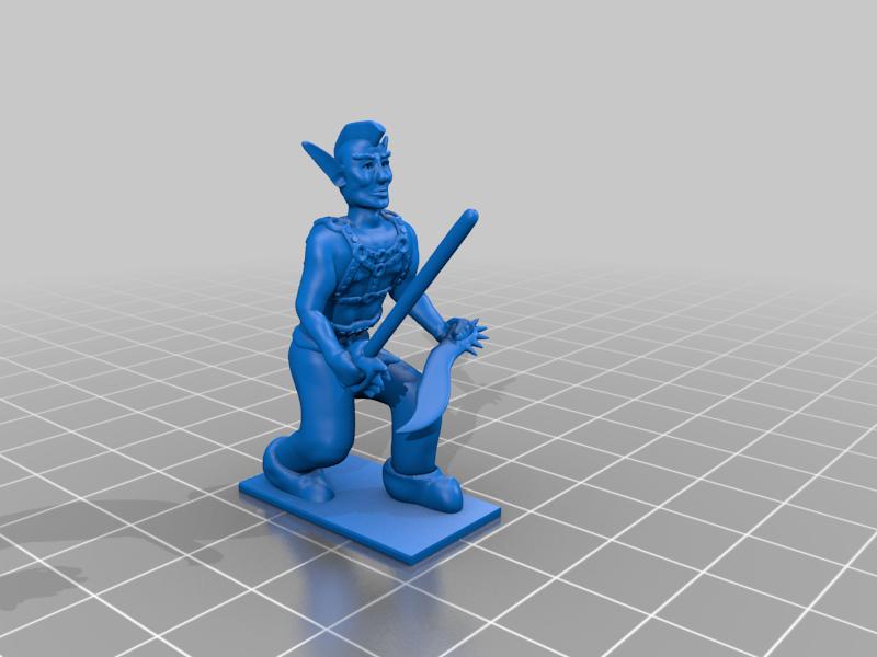 Plank_mohawk.png Download free STL file Eladrin Elf Rogue • 3D print model, Pza4Rza