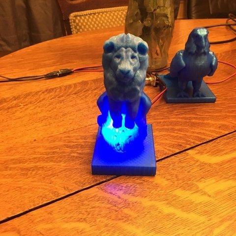 ef21d3c68bcab8f7dedac3df3f2efa17_display_large.JPG Download free OBJ file Lion On Ball Nighlight/Lamp • 3D printable template, Pza4Rza