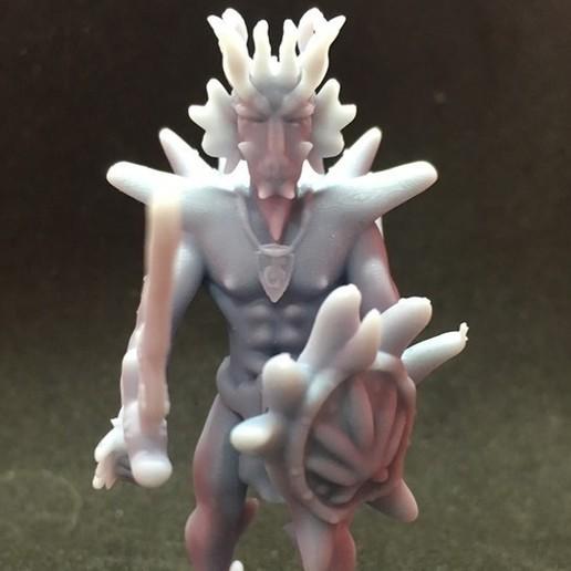 Download free 3D print files Dragonborn Barbarian, Pza4Rza