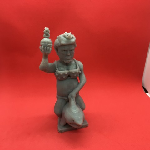 Download free 3D printer designs Trump Chess-Alternate Trump King-Shark Riding Trump , Pza4Rza