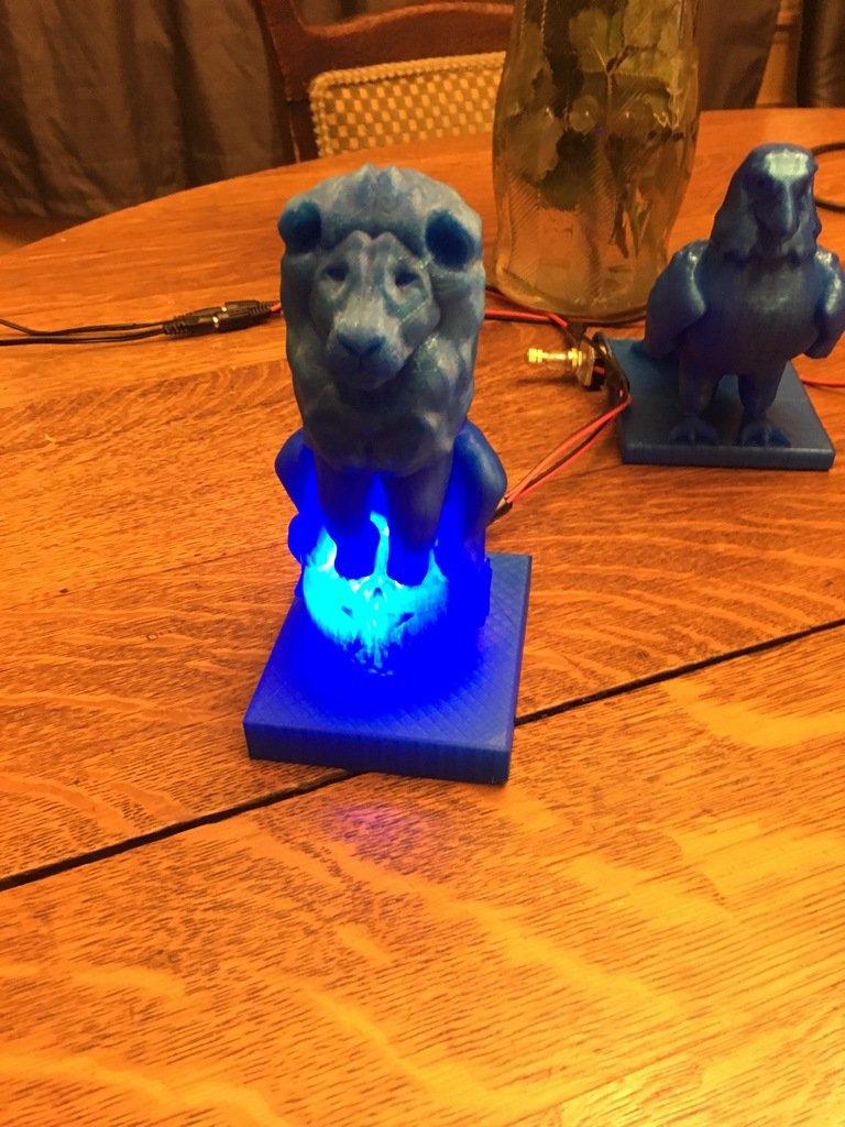 a7e4d712b0e7009d1fc4bdad493ebf24_display_large.JPG Download free OBJ file Lion On Ball Nighlight/Lamp • 3D printable template, Pza4Rza