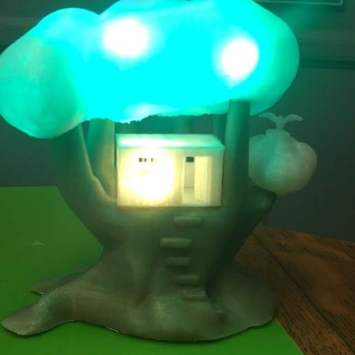 IMG_5049.JPG Download free STL file Improved, but still pretty simple,Tree House Night Light • Design to 3D print, Pza4Rza