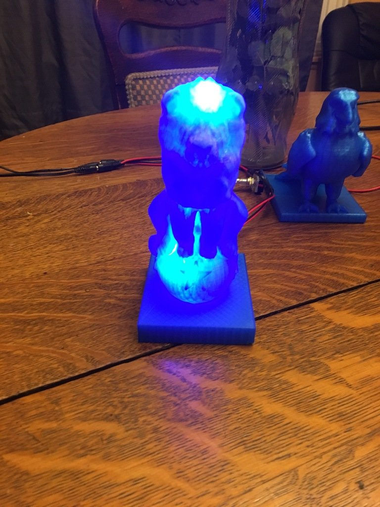 da5210a1ffacd67f9b937d8394506954_display_large.JPG Download free OBJ file Lion On Ball Nighlight/Lamp • 3D printable template, Pza4Rza