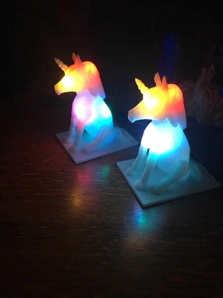 82625b0663bad3193213a6bd50b4b901_display_large.JPG Download free STL file Sitting Unicorn Nightlight • 3D printable object, Pza4Rza