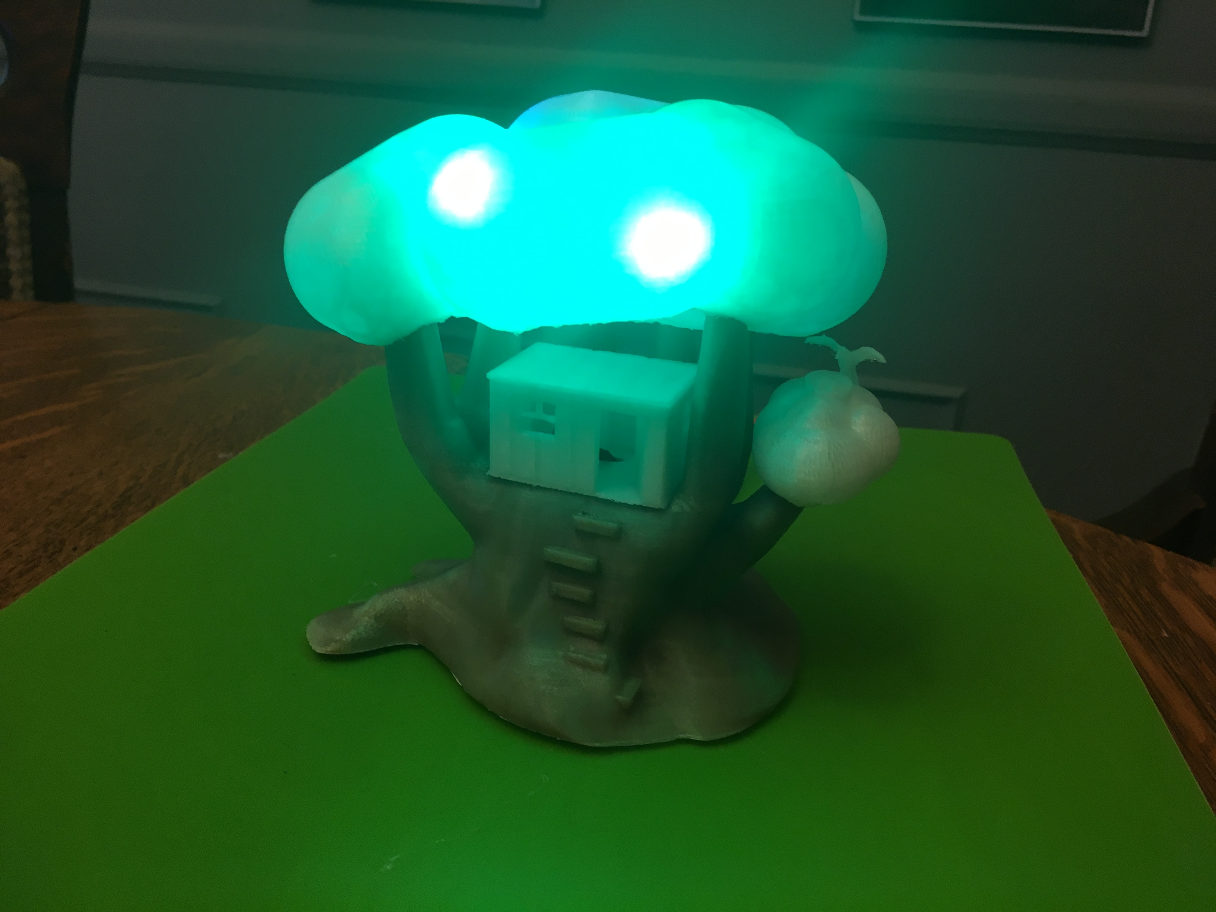 IMG_5056.JPG Download free STL file Improved, but still pretty simple,Tree House Night Light • Design to 3D print, Pza4Rza