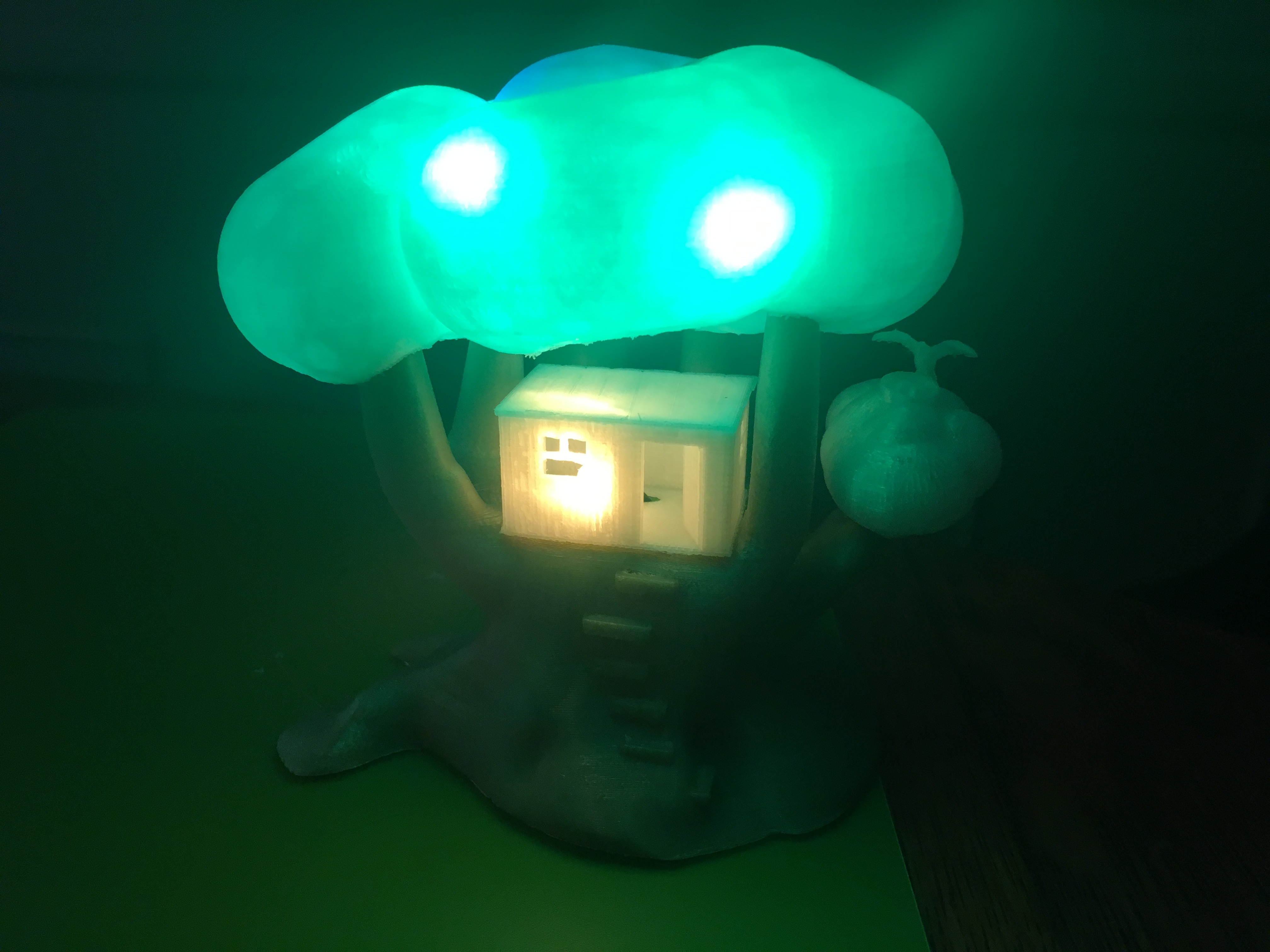 IMG_5039.JPG Download free STL file Improved, but still pretty simple,Tree House Night Light • Design to 3D print, Pza4Rza