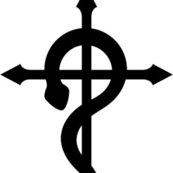 fullmetal1.png Download free STL file logo fullmetal alchimist • 3D printer model, Zeiden