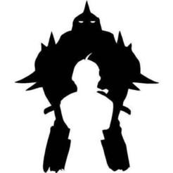 Fullmetal_alchemist_Elric_Brothers.jpg Download free STL file Full Metal Alchemist Brothers • 3D printer model, Zeiden