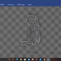 Download 3D printer designs polygonal cat, Zeiden