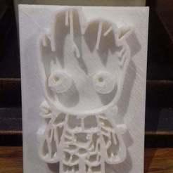 groot.jpg Download free STL file Baby groot in a cookie cutter • 3D printer design, Zeiden