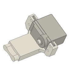 Download 3D printer designs Traxxas TRX4 Servo winch plate, Lucifer_scale_RC