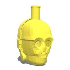 Imprimir en 3D gratis Boquilla Cachimba C3PO, josea_92